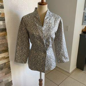 MSK Beautiful Shiny Silver Jacket